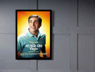 Quadro Poster Cinema Filme 40 Year Old Virgin na internet