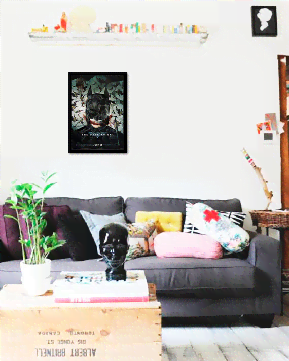 Quadro Poster Cinema Filme The Dark Knight 4 - comprar online