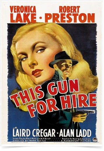 Poster Cinema Filme This Gun For Hire