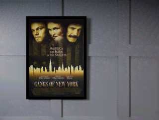 Quadro Poster Cinema Filme Gangs of New York na internet