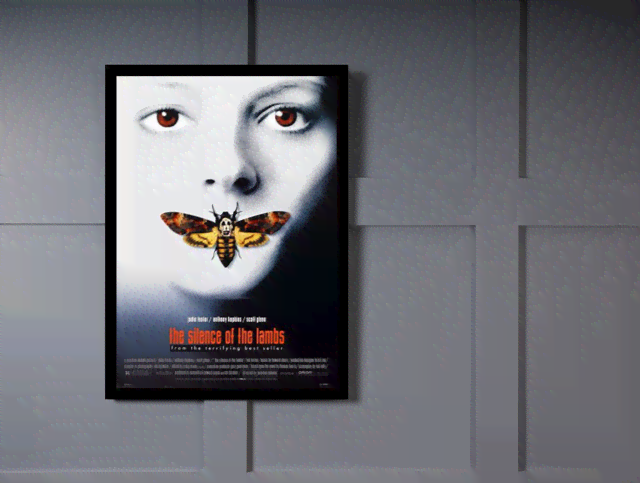 Quadro Poster Cinema Filme The Silence of The Lambs na internet