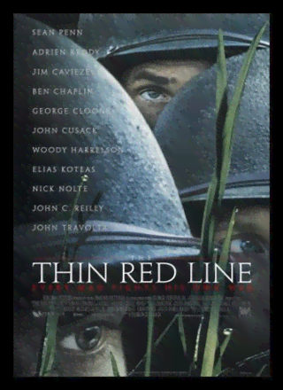 Quadro Poster Cinema Filme Thin Red Line