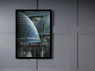 Quadro Poster Cinema Filme Thin Red Line na internet