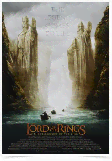 Poster Cinema Filme Lord of The Rings