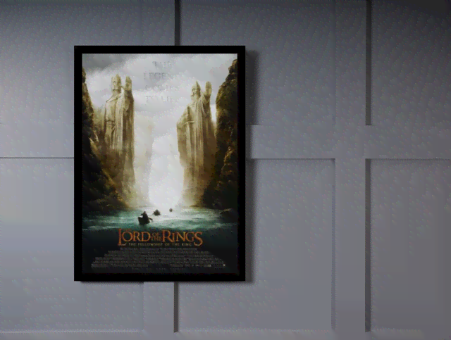Quadro Poster Cinema Filme Lord of The Rings na internet