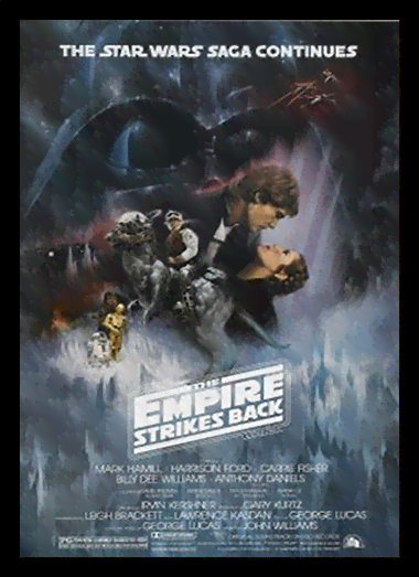 Quadro Poster Cinema Filme Empire Strikes Back