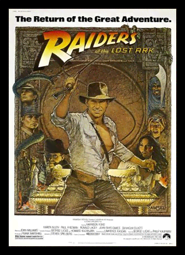 Quadro Poster Cinema Filme Raiders