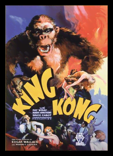 Quadro Poster Cinema Filme King Kong