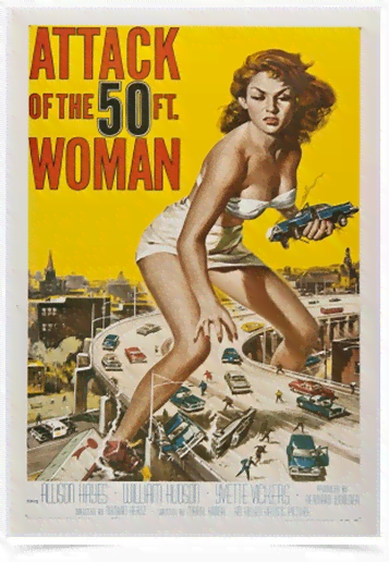 Poster Cinema Filme Attack of the 50ft Woman