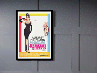 Quadro Poster Cinema Filme Breakfast at Tiffanys na internet