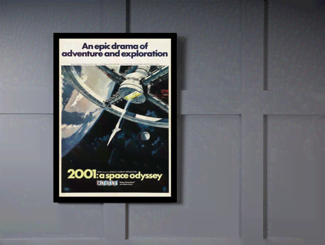 Quadro Poster Cinema Filme 2001 A Space Odyssey 1 na internet