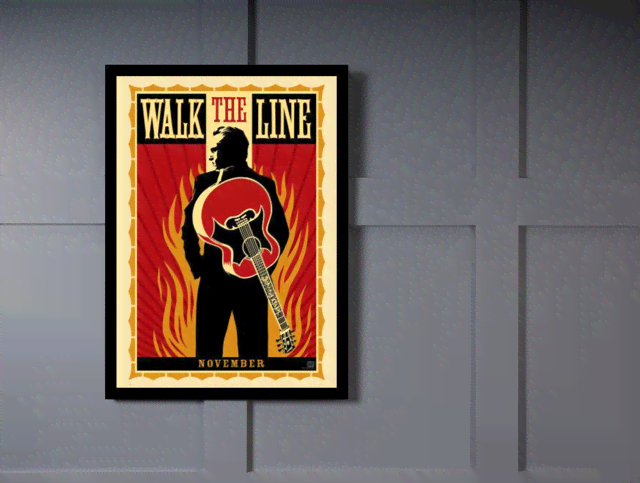 Quadro Poster Cinema Filme Walk the Line na internet