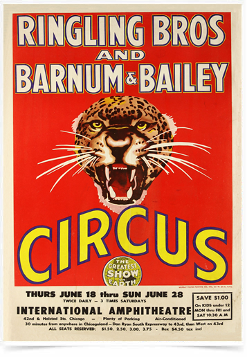 Poster Cinema Barnum e Bailey