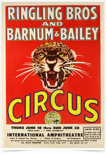 Poster Cinema Barnum e Bailey - Decor10