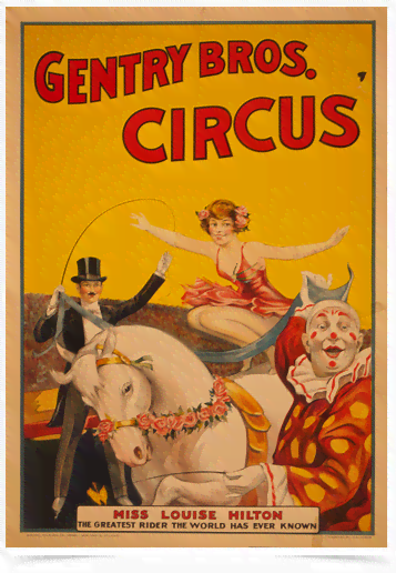 Poster Cinema Gentry Bros Circus