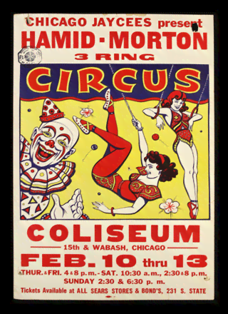 Quadro Poster Cinema Hamid Morton Circus
