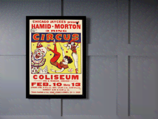 Quadro Poster Cinema Hamid Morton Circus na internet
