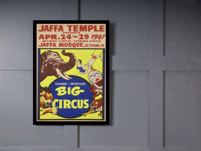 Quadro Poster Cinema Hamid Morton Big Circus na internet