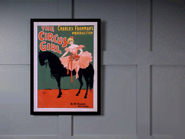 Quadro Poster Cinema The Circus Girl na internet