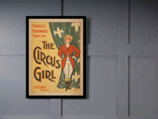 Quadro Poster Cinema The Circus Girl Frohmas na internet