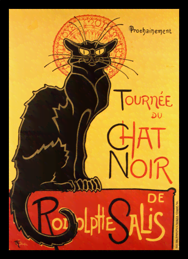 Quadro Poster Cinema Tournee du Chat Noir