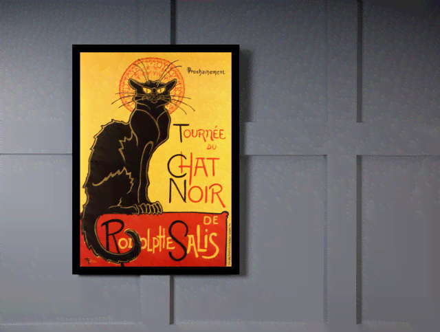 Quadro Poster Cinema Tournee du Chat Noir na internet