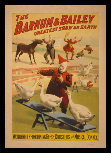 Quadro Poster Cinema The Barnum e Bailey