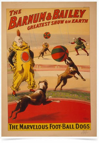 Poster Propaganda The Barnum e Bailey Dogs