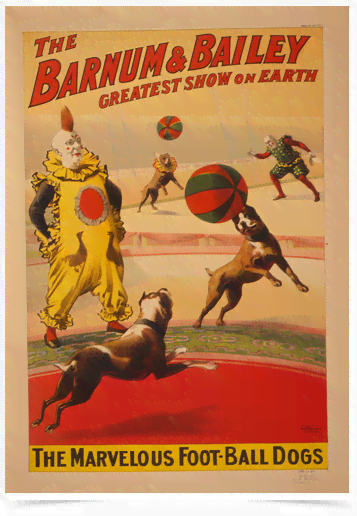 Poster Cinema The Barnum e Bailey Dogs