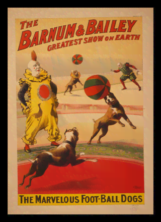 Quadro Poster Cinema The Barnum e Bailey Dogs