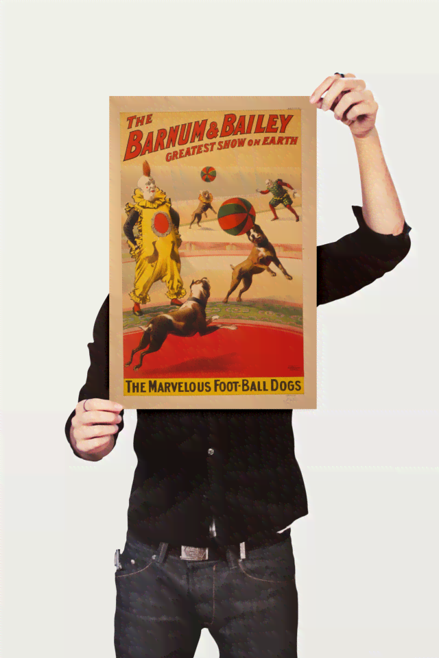 Poster Cinema The Barnum e Bailey Dogs - comprar online