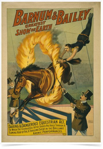 Poster Propaganda The Barnum e Bailey Fire
