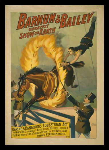 Quadro Poster Cinema The Barnum e Bailey Fire