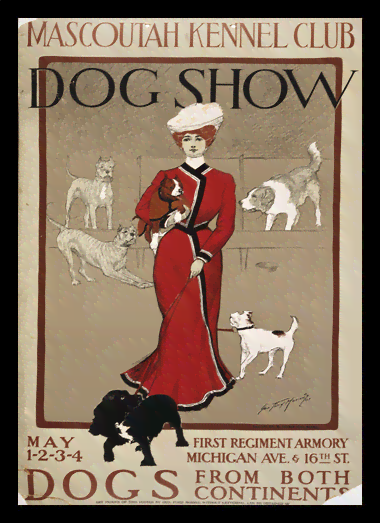 Quadro Poster Propaganda Mascoutah Kennel Club