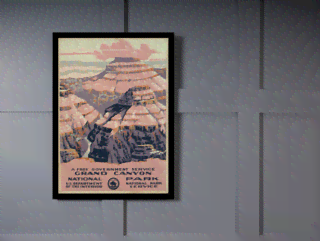 Quadro Poster Propaganda Grand Canyon  na internet
