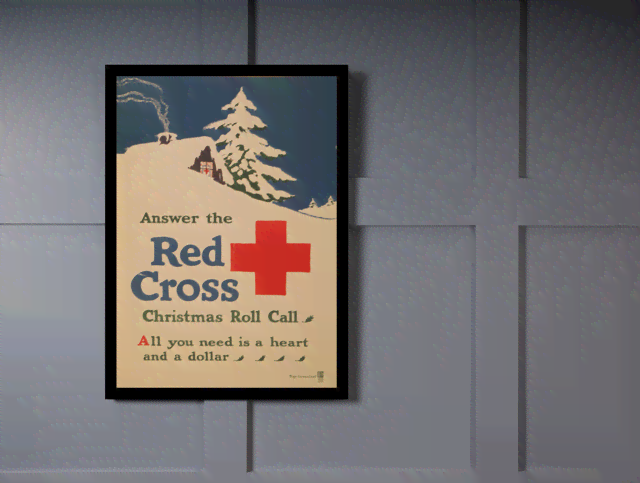Quadro Poster Propaganda Red Cross na internet