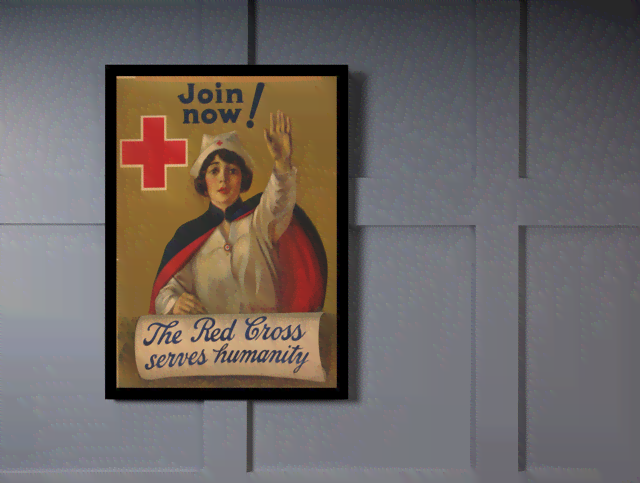 Quadro Poster Propaganda The Red Cross na internet