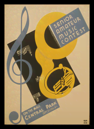 Quadro Poster Propaganda Senior Amateur Music Contest