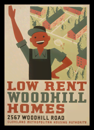 Quadro Poster Propaganda Low Rent Woodhill