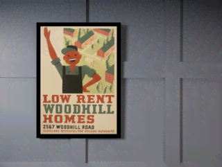 Quadro Poster Propaganda Low Rent Woodhill na internet