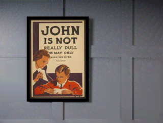 Quadro Poster Propaganda John is Not Really na internet