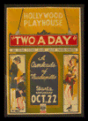 Quadro Poster Propaganda Hollywood Playhouse