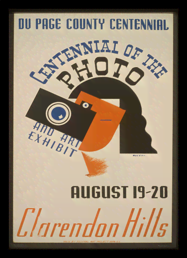 Quadro Poster Propaganda Centennial of the Photo