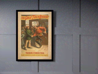 Quadro Poster Propaganda The Great Train Robbery 1 na internet