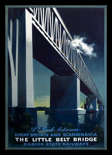 Quadro Poster Propaganda Danish State Railways