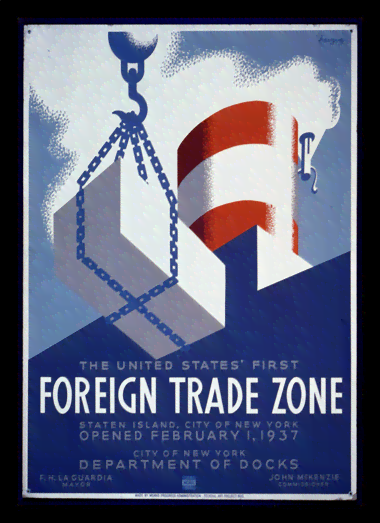 Quadro Poster Propaganda Foreign Trade Zone