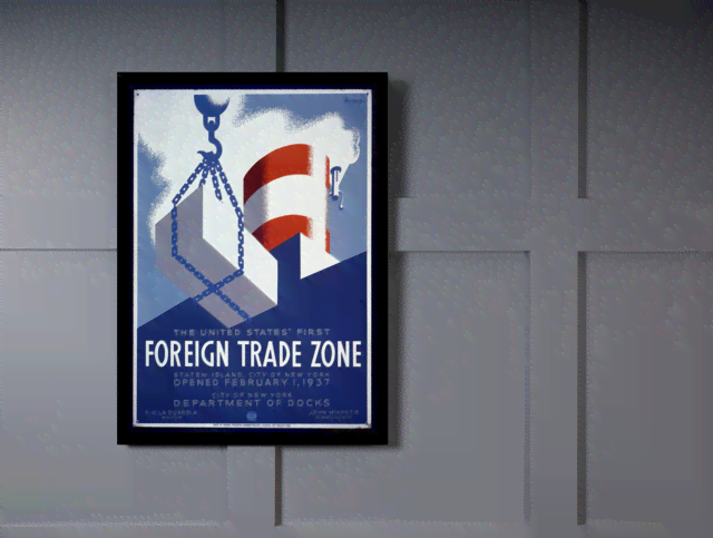 Quadro Poster Propaganda Foreign Trade Zone na internet