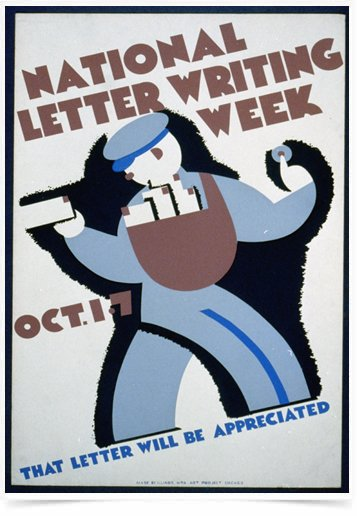 Poster Propaganda National Letter Writing Week
