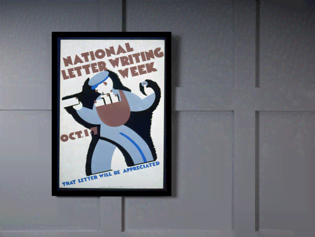 Quadro Poster Propaganda National Letter Writing Week na internet