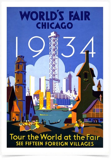 Poster Propaganda Worlds Fair Chicago
